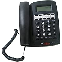 LeeKerTel Home Office Corded Phone with Speakerphone, Caller ID and Speed Dial(Black, P030B)