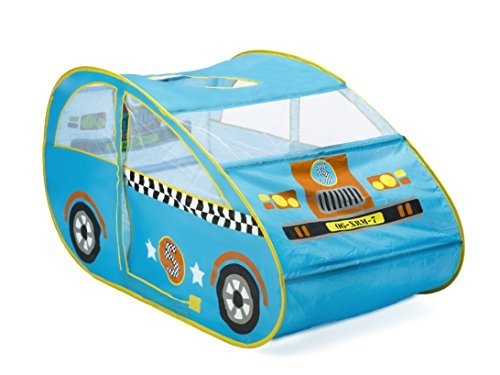 Childrens Pop Up Play Tent Designed like a Racing Car Boys Toy Play Tent / Playhouse / Den by Pop It Up