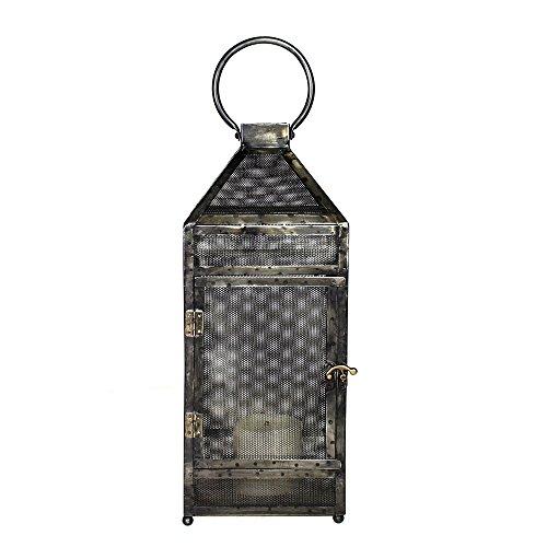 (Rustic Metal Mesh Candle Lantern | 8