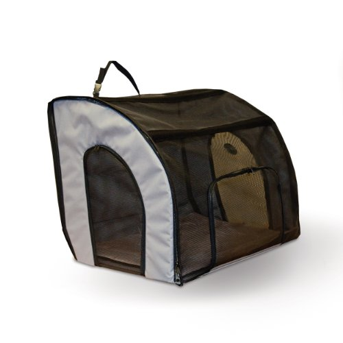 (K&H Pet Products Travel Safety Pet Carrier, Gray, Medium)