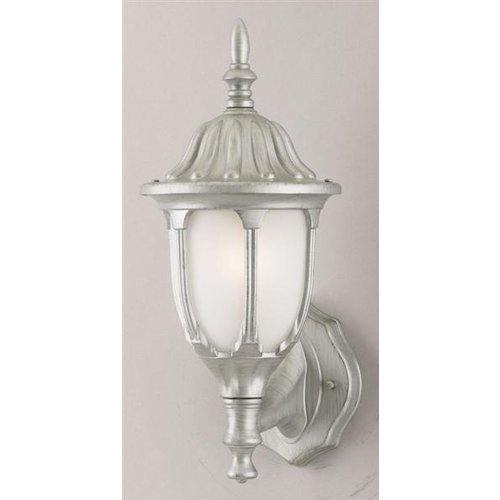 Sconce Antique Westinghouse - Westinghouse 64690 1 Light Wall Lantern Antique Silver Finish on Cast Aluminum with Frosted Glass Panels