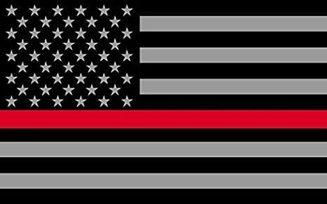 Redline banderas Subdued fino 3 m vinilo reflectante de vinilo, color negro, gris y rojo, diseño de bandera en el valor de nuestros bomberos, EMT y Paramédicos: Amazon.es: Deportes y aire libre