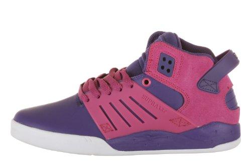 Supra Dames Skytop Iii Sneakers In Paars / Roze / Wit (sw07006) Paars / Roze / Wit