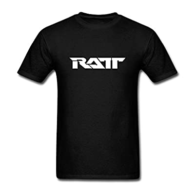 RrelmY Men's Ratt Band Logo T shirts