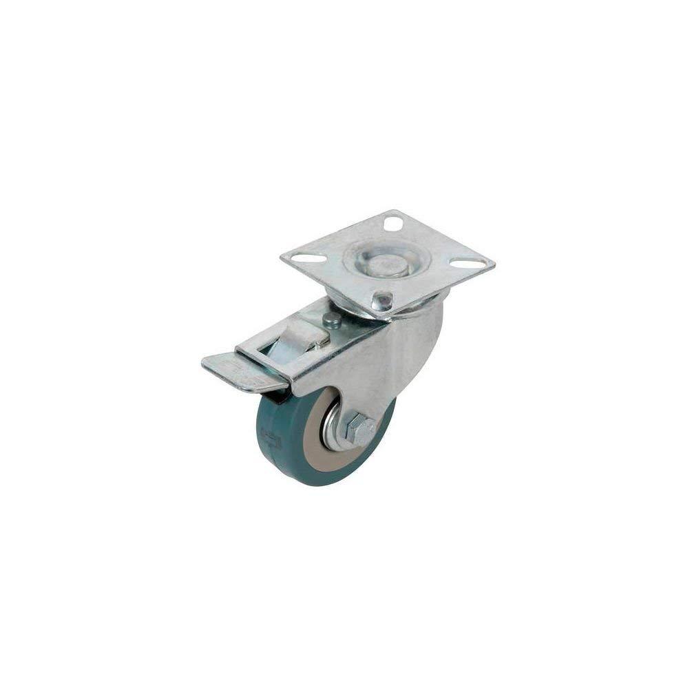 Fixman 509024 100mm Non-Marking Rubber Swivel Castor with Brake 70kg Load Capacity