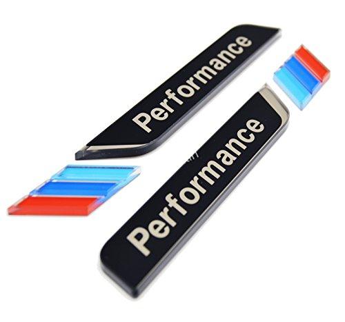 Price comparison product image zorratin M Performance 3D Side Pillar Door Fender Trunk Emblem Badge Plate Decal Set [BLACK] for BMW e46 e90 e90n F10 F20 F30 F35