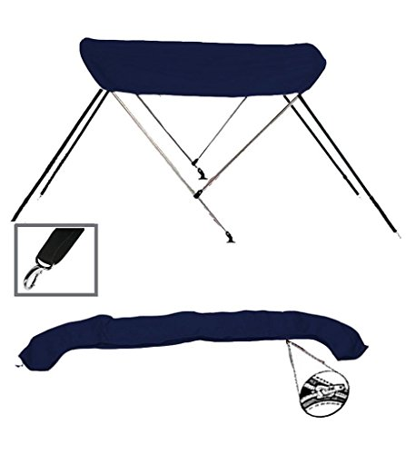 SUN SHADE, BOAT BIMINI TOP, 7oz SOLUTION DYED MATERIAL, COLOR NAVY FOR BOMBARD MAX 4 2007