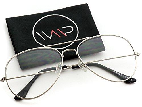 WearMe Pro - Vintage Metal Frame Aviator - Glasses 55mm