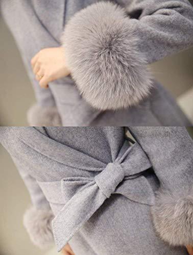 Fourrure Warm Hiver Chic Mode Parka Fit Femme El Longue Slim Manches Long Art Fashion Automne Manteau xX8Fqw8Sa