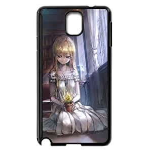 Blonde Girl In The Library Anime0 Samsung Galaxy Note 3 Cell Phone Case Black y2e18-368438