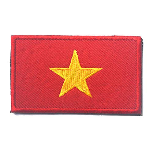 ShowPlus Vietnam VN Flag Military Embroidered Tactical
