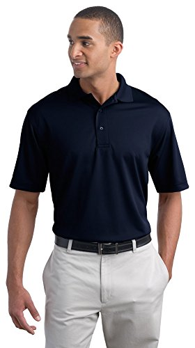 Mens Bamboo Charcoal Polo - Port Authority Men Poly-Bamboo Charcoal Blend Pique Polo, X-Large, Nvy