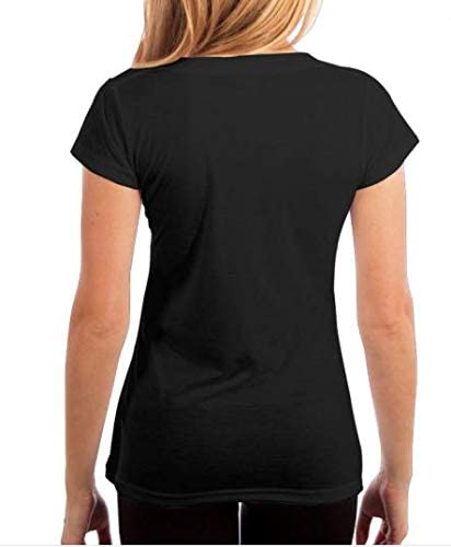 YONG-SHOP American Grown with Algerian Roots Womens T Shirt Casual Cotton Short Sleeve V-Neck Graphic T-Shirt Tops Tees