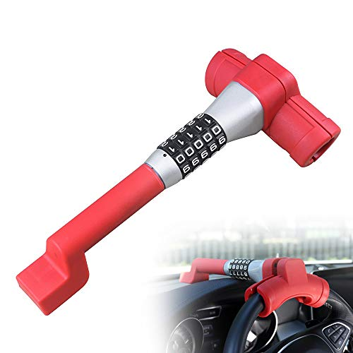 KAYCENTOP T Type 5 Coded Steering Wheel Lock Universal Anti Theft Locking Device Resetable Password Keyless Car Locks