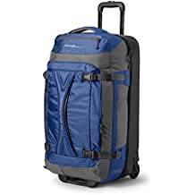 Eddie Bauer Unisex-Adult Expedition Drop-Bottom Rolling Duffel - Large, Sapphire