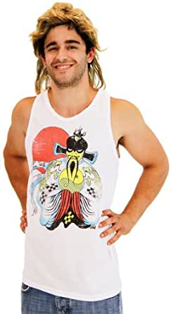 Big Trouble in Little China Tank Top and Wig Costume Set (Adult Small)