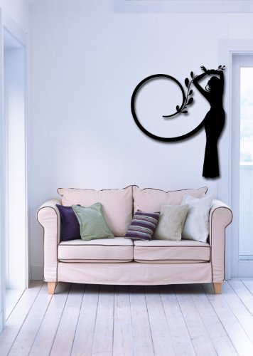 Cheap  Wall Stickers Vinyl Decal Beautiful Girl Silhouette Tree Great Decor (i584)