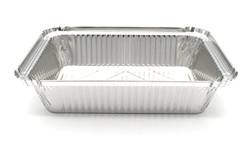 Fig & Leaf (120 Pack) Premium 2-LB Takeout Pans with LIDS l Standard 8.6'' x 6.1'' x 2'' l Top Choice Disposable Aluminum Foil for Catering Party Meal Prep Freezer Drip Pans BBQ Potluck Holidays by Fig & Leaf (Image #3)