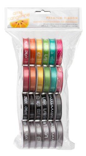 American Crafts Amy Tangerine Plus One Premium Ribbon, (American Crafts Premium Ribbon)