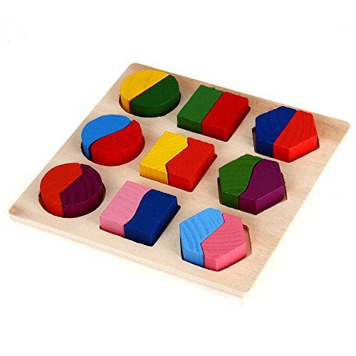 Crazo Spielzeug Babyspielzeug Lernspielzeug Holzspielzeug Holz Puzzle Steckspiel 15*15cm