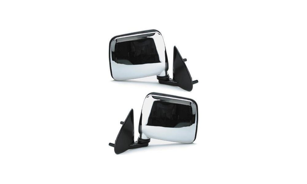 Kool Vue Manual Mirror Pair for 95-97 Nissan Pickup Left & Right Chrome