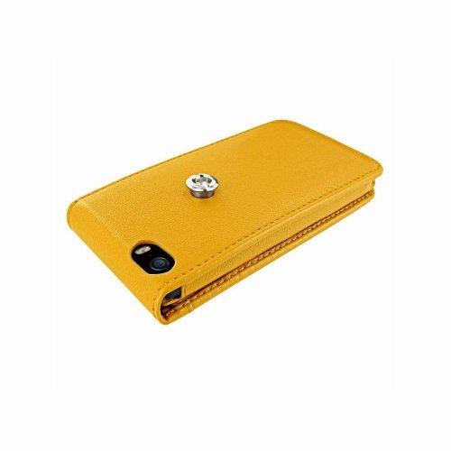 Piel Frama U595Y Magnetic Ledertasche für Apple iPhone 5/5S gelb