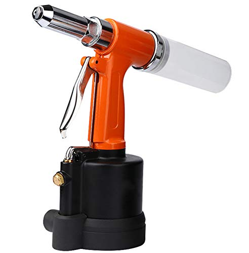 NEWTRY Air Hydraulic Double Power Pop Rivet Gun Industry Pneumatic Pop Riveter Heavy Duty Riveting Tool Kit for 1/8,5/32,3/16,1/4