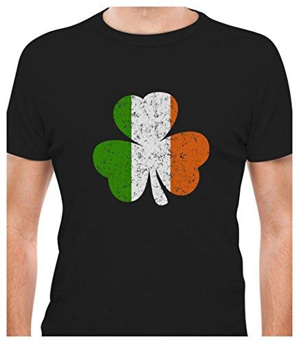 Ireland Shamrock - Distressed Irish Flag Clover St. Patricks Day T-Shirt