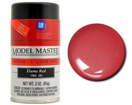 Spray Model Master Auto Lacquer - Model Master Model Master Automotive Lacquer Flame Red Spray 1:0 Scale