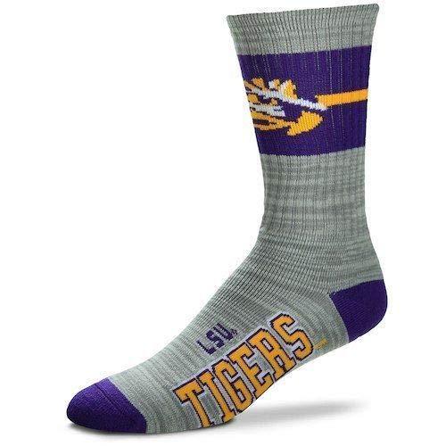 For Bare Feet LSU Tigers Deuce Band Crew Socks