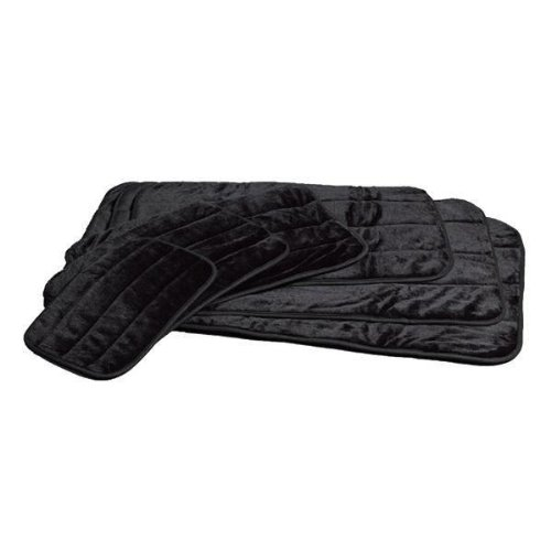 Midwest Quiet Time Deluxe Black Fur Pet Mat 35 Inches by 23 Inches, My Pet Supplies