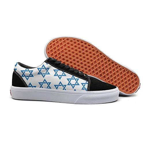Tisha B'Av Kosher white mosaic star of david white background Men's Slip on shoes Low Top Sneaker