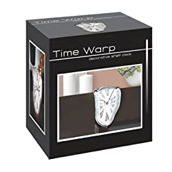 Melting Time Warp Shelf Clock - Unique Home & Office Conversation Piece