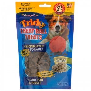 Omega Paw Treat Ball Treats, Chicken