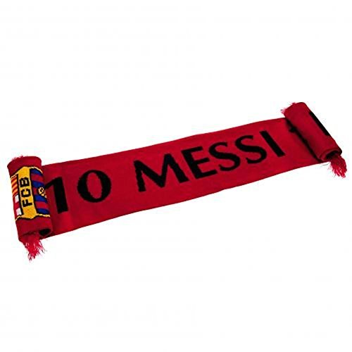 (FC BARCELONA MESSI- Messi Scarf - Official, Authentic Item - Features FCB Colors and Crest)