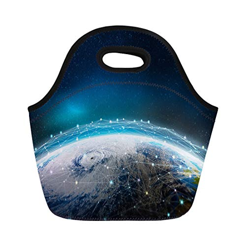 7d1ccdbc6668 Semtomn Lunch Bags Global Social Information Network Across the Planet View  From Neoprene Lunch Bag Lunchbox Tote Bag Portable Picnic Bag Cooler Bag