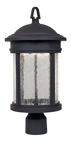Oil Rubbed Bronze 1 Light Post Lantern with LED Lights by Designers Fountain