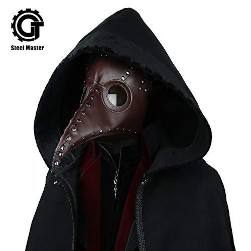 Steampunk Plague Beak Mask Gothic Cosplay Retro Doctor Bird Mask -