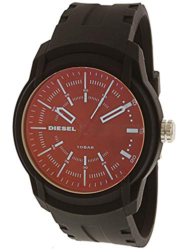 - Diesel Men's Armbar Silicone Casual Watch, Color: Black (Model: DZ1819)