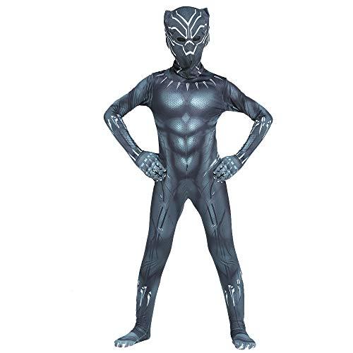 Halloween Costumes Body Suits (JianYia Kids Bodysuit Superhero Costumes Lycra Spandex Halloween Cosplay Costumes (Black,)