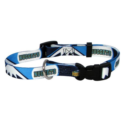NBA Denver Nuggets Adjustable Pet Collar, Team Color, Large