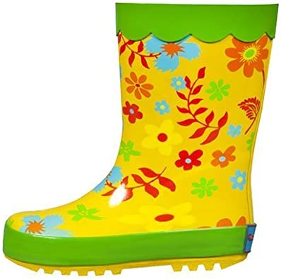 Flower Boots for Kids CLOSE OUT Flower Rain Boots for Girls Lime Green Rain boots Cute Rainboots Size 12