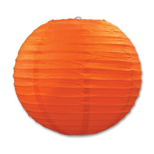 Super Paper Lanterns,Dealzip Inc Paper Made Lamp Cover East Chinese Japanese Style 9.5 inches Lantern Pack of 10(Orange)