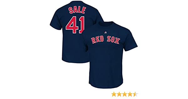 88e34e71b Amazon.com   Chris Sale Boston Red Sox  41 MLB Men s Player Name   Number T- shirt - Navy   Sports   Outdoors