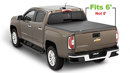Colorado Chevrolet Bed Rails (Tonno Pro HF-165 Black Hard Fold Truck Bed Tonneau Cover 2015-2018 Chevrolet Colorado / GMC Canyon   Fits 6' Bed)