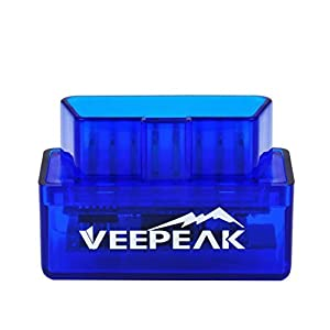 Veepeak Mini Bluetooth OBD2 Scanner OBD II Car Diagnostic Scan Tool for Android & Windows, Check Engine Light Code Reader, Supports Torque, OBD Fusion, DashCommand, Car Scanner App