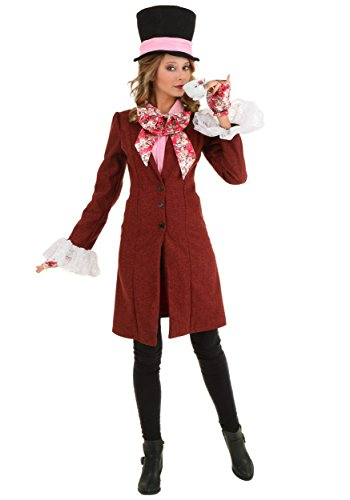 Deluxe Plus Size Women's Mad Hatter Costume 2X Cardinal Red]()