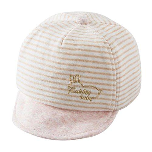 Baby Hats With Ears Baseball Cap Baby Boys Girls Sun Hat (Beige) - 7