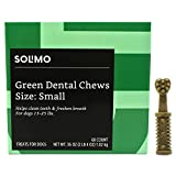 Amazon Brand - Solimo Green Dental Chews Dog Treats, Small Size, 60 Count