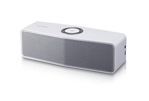 LG NP7550W - Altavoz portátil con Bluetooth (6,3 x 18,4 x 5,5 cm), plata